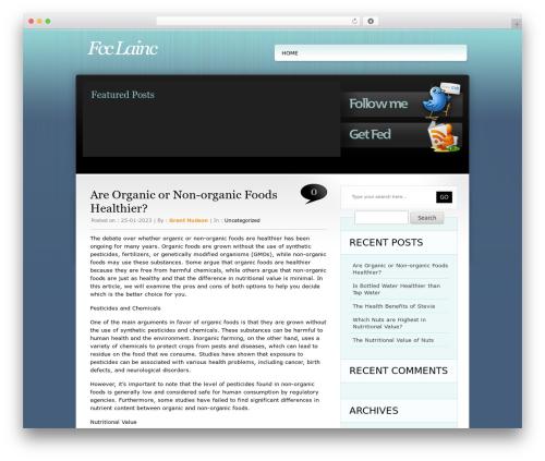 TweetMeBlue WordPress theme - fcclainc.com