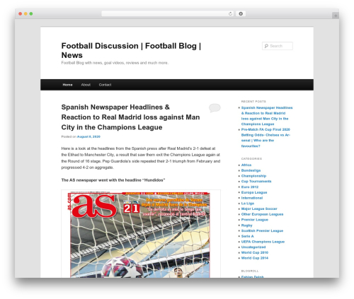 Free WordPress Twenty Eleven Theme Extensions plugin - footballdiscussion.net