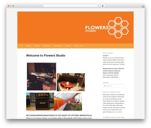 Twenty Eleven WordPress template - flowersstudio.com