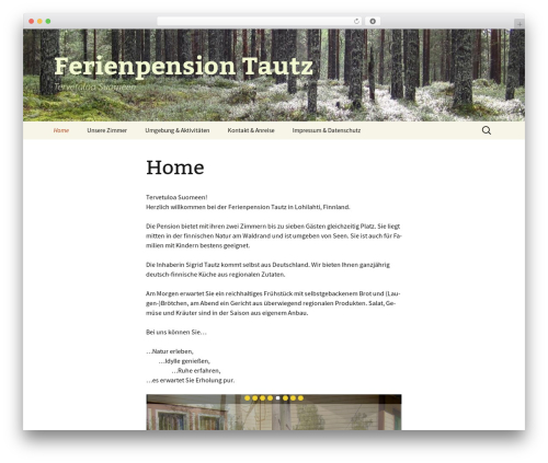 Twenty Thirteen free WP theme - ferienpension-tautz.com