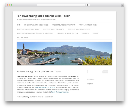 Twenty Twelve WordPress template free download - ferienwohnung-vermieten.ch