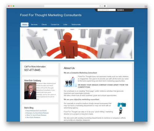 WordPress theme Charlie - foodforthoughtmarketing.com