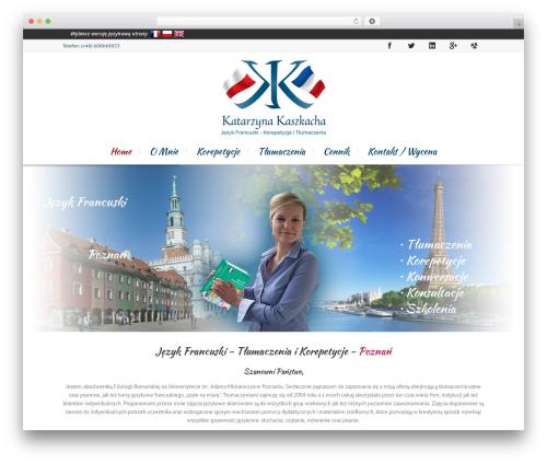 WordPress theme Lounge Child - francuski-poznan.com