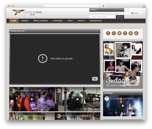 WordPress theme News Pro Theme - fashionone.jp