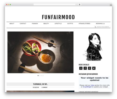 WordPress theme Runway - funfairmood.com