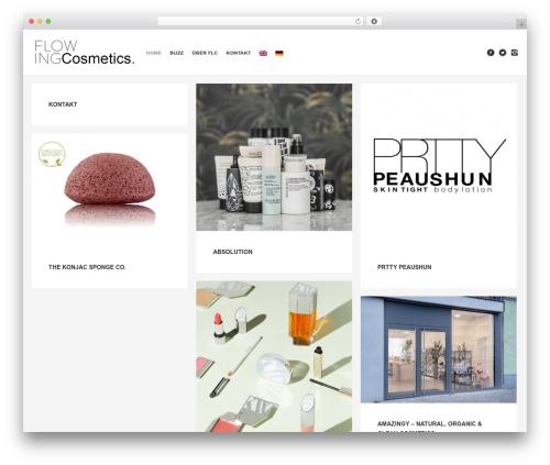 WordPress theme Studiofolio - flowing-cosmetics.com