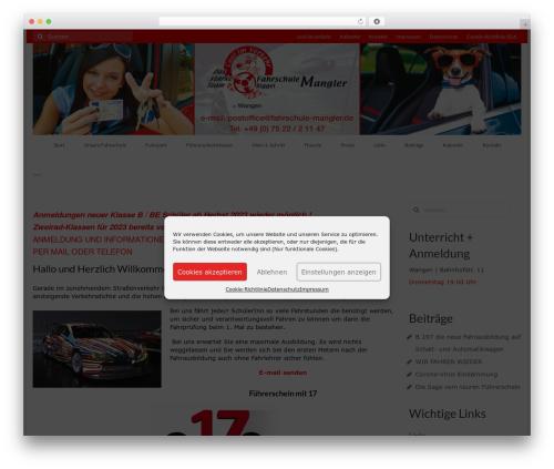 Free WordPress Feature A Page Widget plugin - fahrschule-mangler.de