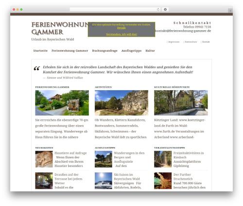 WP-Bold WordPress theme - ferienwohnung-gammer.de