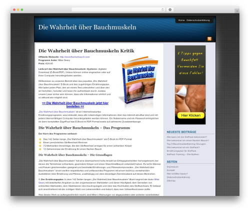 Affiliate Internet Marketing theme template WordPress - die-wahrheit-ueber-bauchmuskeln.net