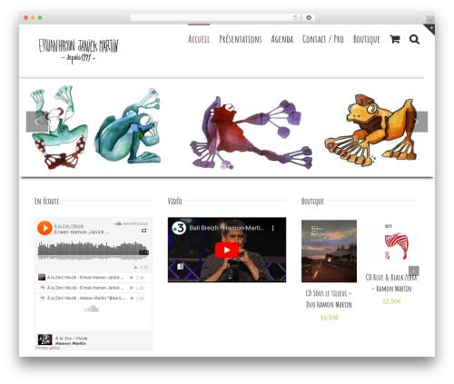 Avada WordPress template - duohamonmartin.com