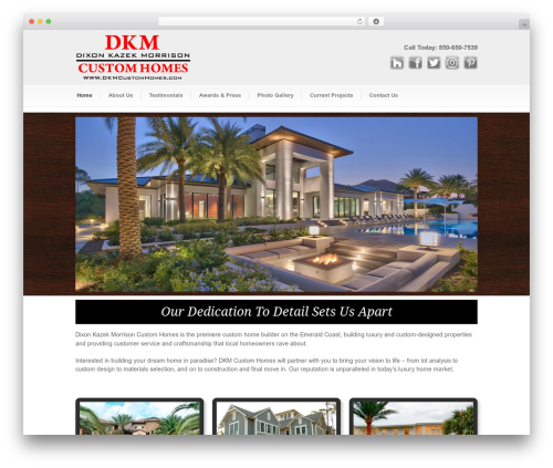 Best WordPress template DKM Custom Homes - dkmcustomhomes.com