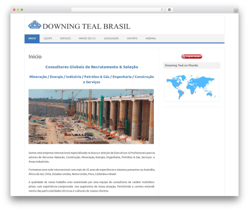 Best WordPress template Iconic One - downingteal.com.br