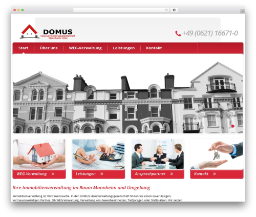 cherry WordPress theme - domus-hv.de