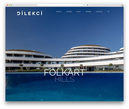 Dessau WordPress website template - dilekci.com