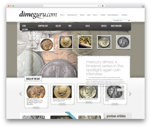 eStore company WordPress theme - dimeguru.com