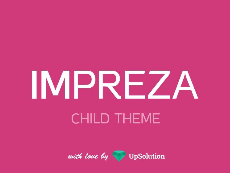 Impreza Child WordPress theme