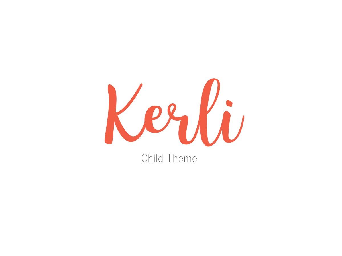 Kerli Child WordPress theme