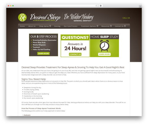 Nexus theme WordPress - desiredsleep.com