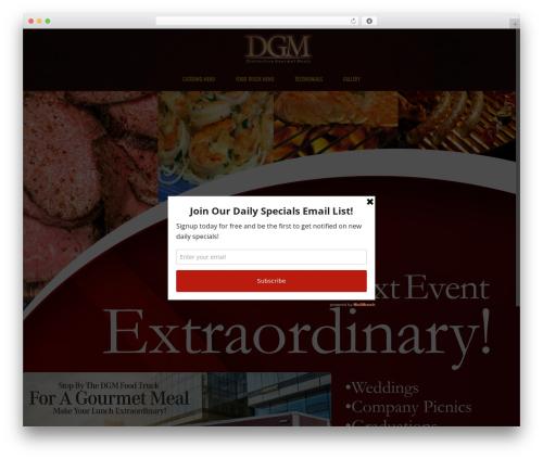 Subway WP template - dgmcatering.com