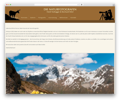Theme WordPress WP Omnia - die-naturfotografen.com
