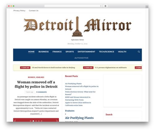 Tribune WordPress theme - detroitmirror.com