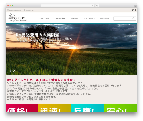 WordPress theme cherry - direction-co.com