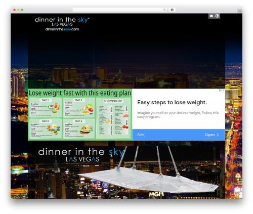 WordPress theme Cosmox - dinnerintheskylv.com