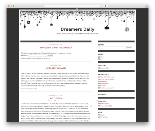 WordPress theme Daydreams - dreamersdaily.com