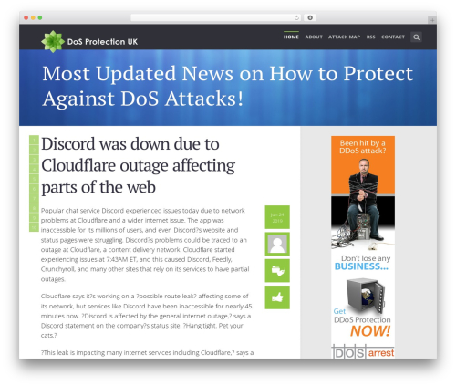 Best WordPress theme SeaShell - dos-protection.co.uk