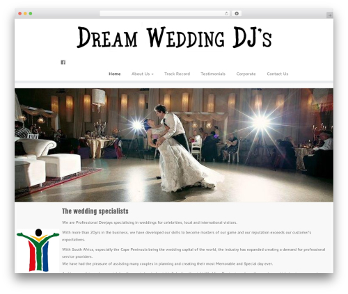 Customizr free WordPress theme - dreamweddingdjs.co.za