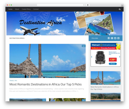 Hueman free WordPress theme - destinationafrica.info
