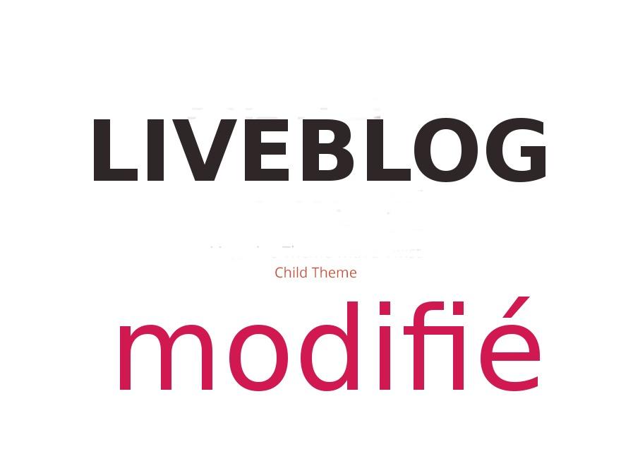 LiveBlog Child WordPress blog template