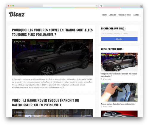 LiveBlog WordPress magazine theme - divuz.fr