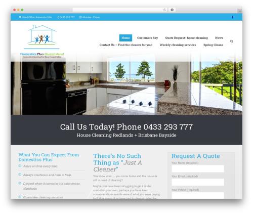 The7 template WordPress - domesticsplus.com.au