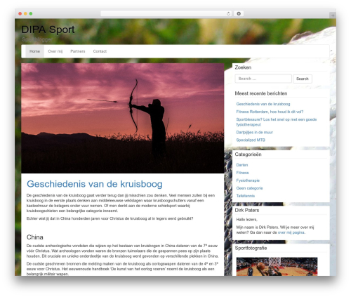 Theme WordPress LineDay - dipa-sport.nl