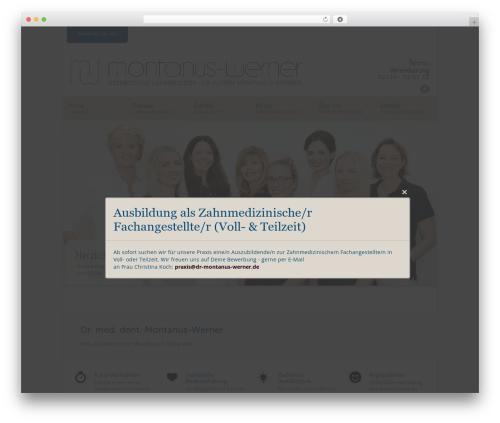 WordPress theme Modernize - dr-montanus-werner.de