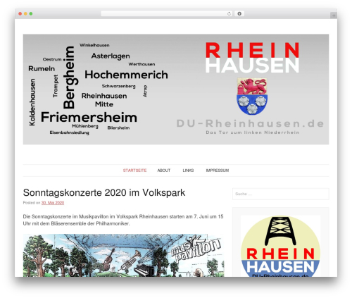 WordPress theme Pho - du-rheinhausen.de