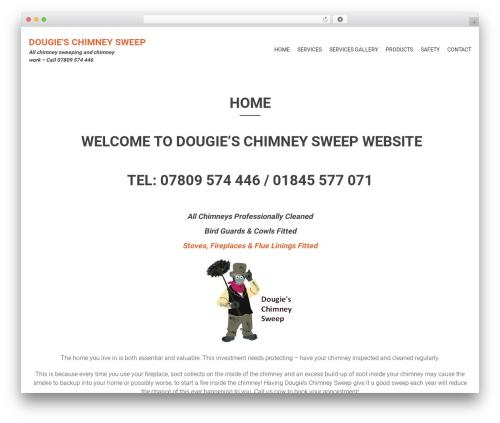 AccessPress Parallax template WordPress - dougieschimneysweep.co.uk