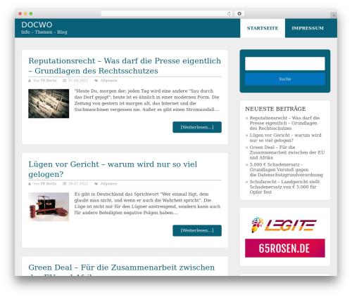 Allgemein Theme - Schema Lite Child best WordPress template - docwo.de