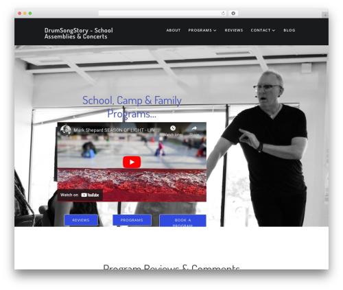 Aspire Pro WordPress page template - drumsongstory.com