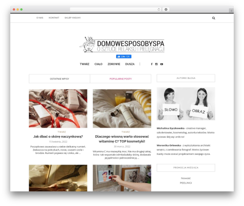 Best WordPress template Solstice - domowesposobyspa.pl