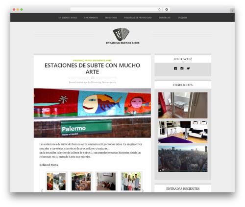 Best WordPress theme Adapt - dreamingbuenosaires.com/es