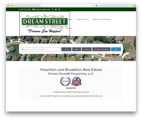 Divi best real estate website - dreamstreetrealestate.com