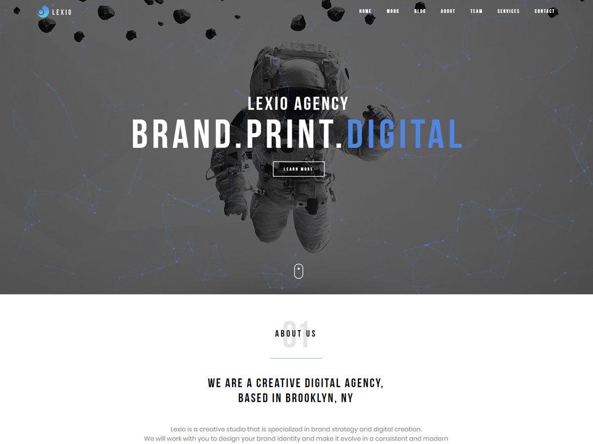 Lexio photography WordPress theme