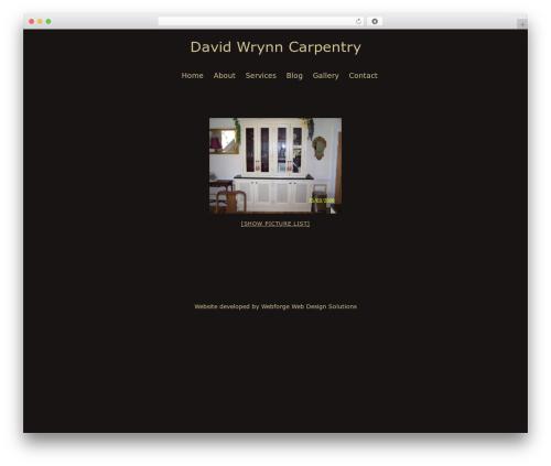 Tomorrow WP theme - davidwrynncarpentry.com