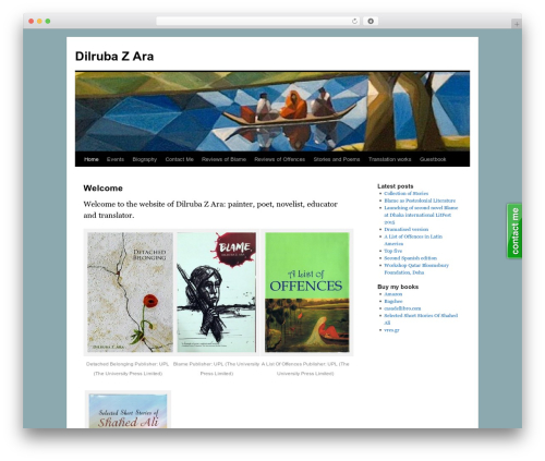 TwentyTen Five WordPress theme design - dilrubazara.com
