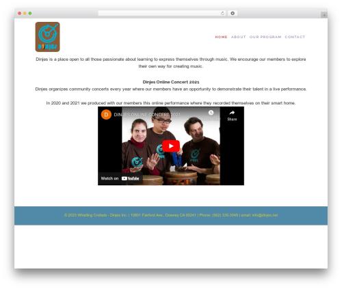 WordPress theme Maisha - dinjes.net