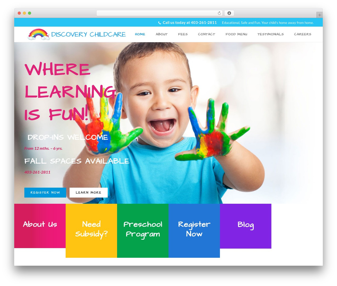 WP template Jupiter - discoverychildcare.ca