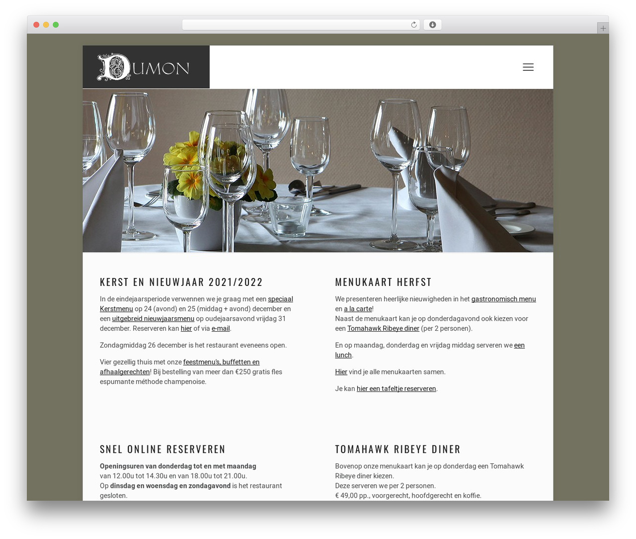 Betheme best restaurant WordPress theme - dumon.be