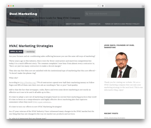 Daily Stories WordPress template free - duel-marketing.com
